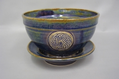 Rutile Celtic Berry Bowl and Saucer