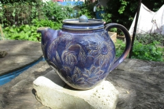 Floral Carved Teapot