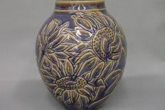 Rutile Carved Sunflower Vase